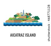 alcatraz island view from the... | Shutterstock .eps vector #468771128