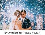 first wedding dance of newlywed | Shutterstock . vector #468774314