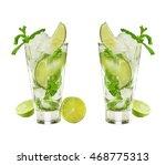 summertime. homemade mojito... | Shutterstock . vector #468775313