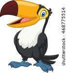 cartoon funny toucan isolated...   Shutterstock . vector #468775514