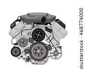 car engine vector illustration | Shutterstock .eps vector #468776000