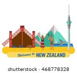 flat design  new zealand's... | Shutterstock .eps vector #468778328