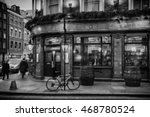 London Pub Illustration Black...