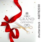 grand opening card with silk... | Shutterstock .eps vector #468782030