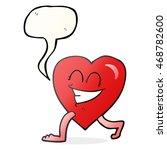 freehand drawn speech bubble... | Shutterstock . vector #468782600