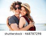 closeup of sensual young couple ... | Shutterstock . vector #468787298