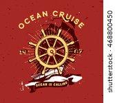 handcrafted vintage ocean... | Shutterstock .eps vector #468800450