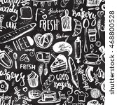 bakery items seamless pattern...   Shutterstock .eps vector #468800528