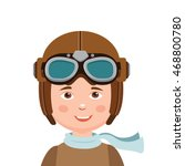 young boy pilot isolated in... | Shutterstock .eps vector #468800780
