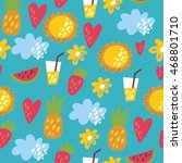summer pattern | Shutterstock .eps vector #468801710