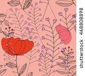 seamless pattern of flowers.... | Shutterstock .eps vector #468808898