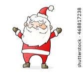 cartoon happy santa claus   Shutterstock . vector #468817238
