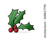 cartoon holly | Shutterstock . vector #468817790