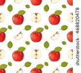 apples. seamless pattern... | Shutterstock .eps vector #468820478