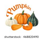 pumpkins. vector illustration... | Shutterstock .eps vector #468820490