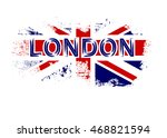 british flag t shirt typography ... | Shutterstock .eps vector #468821594