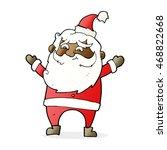 cartoon happy santa claus   Shutterstock . vector #468822668