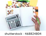 concept of accounting with... | Shutterstock . vector #468824804