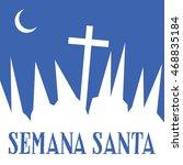 holy week banner. vector. | Shutterstock .eps vector #468835184