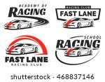 set of sport car racing logo ... | Shutterstock .eps vector #468837146