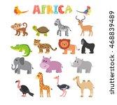 animals of africa. vector set... | Shutterstock .eps vector #468839489