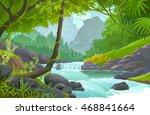 stream of fresh water flowing...