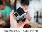 an action camera or action cam... | Shutterstock . vector #468844478