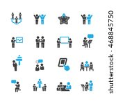 business and meeting icons... | Shutterstock .eps vector #468845750