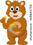 cute bear cartoon for you design   Shutterstock .eps vector #468845756