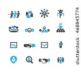 business and meeting icons...   Shutterstock .eps vector #468845774
