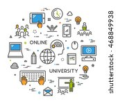 vector line concept for online... | Shutterstock .eps vector #468849938