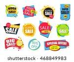 set of flat modern and hand... | Shutterstock .eps vector #468849983