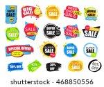 set of flat modern and hand... | Shutterstock .eps vector #468850556