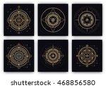 sacred symbols design set  ... | Shutterstock .eps vector #468856580