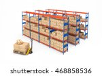 warehouse rack full of... | Shutterstock . vector #468858536
