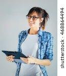 young businesswoman | Shutterstock . vector #468864494