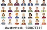people avatars in flat style.... | Shutterstock .eps vector #468875564