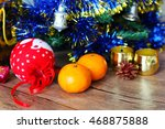 christmas decoration. happy new ... | Shutterstock . vector #468875888