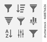 vector set of icons for... | Shutterstock .eps vector #468876626