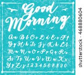 script handwriting font   good... | Shutterstock .eps vector #468880604