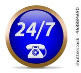 24 7 support phone icon.... | Shutterstock . vector #468884690