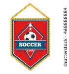 red soccer pennant isolated... | Shutterstock .eps vector #468888884