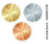 vector blank glossy serrated... | Shutterstock .eps vector #468889148