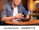 people  nicotine addiction and... | Shutterstock . vector #468889778