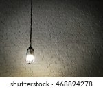 hanging antique light brick... | Shutterstock . vector #468894278