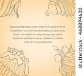 cupcake card. invitation of... | Shutterstock .eps vector #468894620