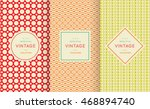 Retro Vintage Seamless Pattern...