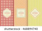 retro vintage seamless pattern... | Shutterstock .eps vector #468894740