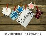 eid al adha greeting card or... | Shutterstock . vector #468903443
