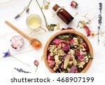 herbal blend of various dried... | Shutterstock . vector #468907199